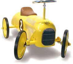 Vilac Yellow Ride On Classic Car #oliverthomas #vilac #vilactoys #rideoncar #classiccar #vintage #kidstoys #kidscars #nursery #kidsroom