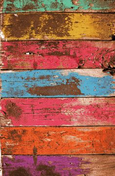 Vintage Colored Wood 2 Art Print