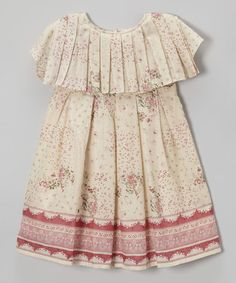 This Ivory Floral Pleated Dress - Toddler & Girls is perfect! #zulilyfinds