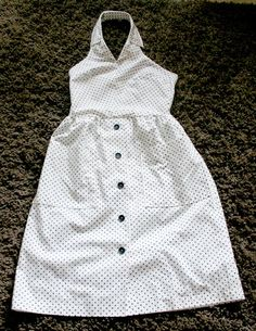 How to make a DIY dress from a man's dress shirt - couldn't find the video but used this as an inspiration. the dress turned out to be a good looking one!