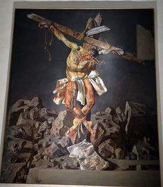 Cristo de la paz (Cristo de Kennedy), Benito Prieto Coussent - Iglesia Santa Maria de la Alhambra, Granada