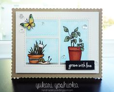 """Grown with Love"" by Handmade by Yuki | ""Garden Grow"" by Altenew"