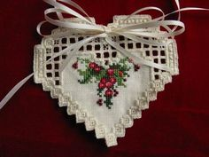 Christmas in My Heart - cross stitch and hardanger design from Cross n Patch. Available at NeedleartsGallery.com $8.00