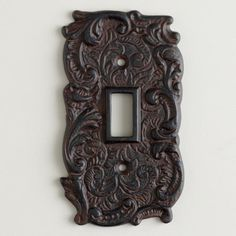 Single Cast Iron Switch Plate - World Market $6.99