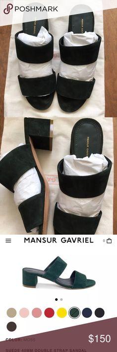 Mansur Gavriel double strap sandal 100% authentic, retail price is $475. Wore twice. In excellent condition.    Have dust bag and box! Mansur Gavriel Shoes Sandals