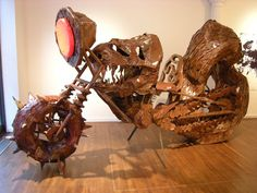 cardboard motorcycle. Ushio Shinohara Art Asia Miami (December 2010)