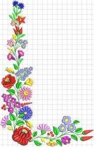 Kalocsai hímzésminták 2 Polish Embroidery, Hungarian Embroidery, Folk Embroidery, Learn Embroidery, Embroidery Online, Indian Embroidery, Chain Stitch Embroidery, Embroidery Stitches, Embroidery Patterns