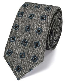 Grey and blue silk mix printed Donegal luxury tie Luxury Ties, Charles Tyrwhitt, Paisley Dress, Donegal, Neckties, Mixing Prints, Fashion Accessories, Silk, Printed