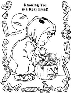 Halloween coloring pages - treats