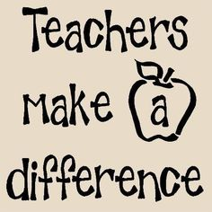Teachers make a difference 12x12 vinyl wall art decals sayings words ...