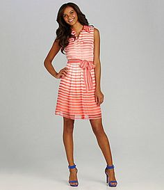 Vince Camuto Striped Ombre Shirtdress #Dillards