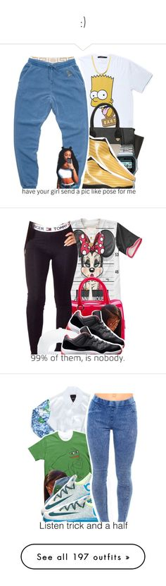 """:)"" by teezybre ❤ liked on Polyvore featuring Off-White, Yoki, Case-Mate, Casio, Versace, October's Very Own, Furla, Minnie Grace, PèPè and NIKE"
