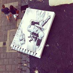 Troqman: el artista de los garabatos que interactúan con su entorno | Quiero más diseño