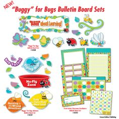 The School Shop carries Carson Dellosa's awesome bug-themed bulletin board set!  You'll go Buggy for Bugs in your classroom, home or next party!