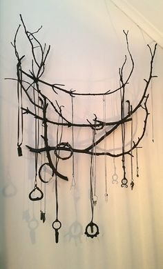 I made this, to hang my necklaces on. I tried to give it a witchy strega vibe to. Love how it turned out.