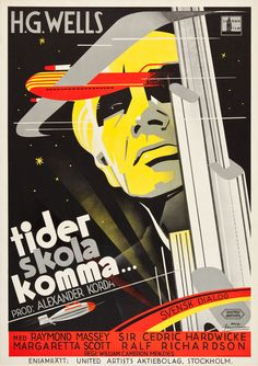 Tider Skola Komma (Things to Come, Retro Poster, Posters Vintage, Art Deco Posters, Poster Prints, Art Prints, Lund, Classic Movie Posters, Classic Films, Kunst Poster