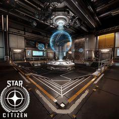 Star Citizen - Port Olisar (Alpha 2.4 lighting update), Ashley McKenzie on ArtStation at https://www.artstation.com/artwork/vmBzO