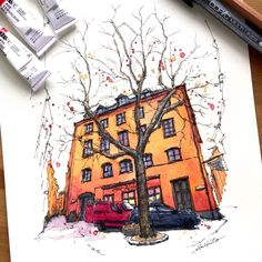 Akihito Horigome (@horiaki2) в Instagram: #Stockholm #Sweden #aquarell #art #painting #watercolor #watercolour #sketch #paint #drawing #sketching #sketchbook #travelbook #archisketcher #sketchaday #sketchwalker #sketchcollector #artjournal #traveldiary #topcreator #usk #urbansketch #urbansketchers #скетчбук #скетч #скетчинг #pleinair #aquarelle #watercolorsketch #usk #architecture #painting #illustration