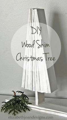 Wood Shim Christmas TreeWood Shim Christmas Tree