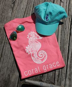 Adult Coral T-Shirt with Henna Print