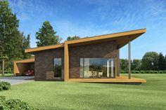 Individualių namų projektai, kartotiniai namų projektai haus.lt - modernūs namų projektai, gyvenamųjų namų projektai, vieno aukšto namų projektai, namų projektavimas, pasyvus namas, taupus namas, architektai Kaune. House Roof Design, Small House Design, Facade House, Modern House Design, Best House Plans, Modern House Plans, Pavilion Architecture, Modern Architecture, Zen House