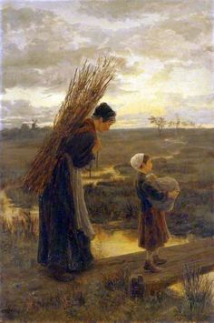 Alice Havers (Mrs. Frederick Morgan) (British painter) 1850 - 1890 - They Homeward Wend Their Weary Way