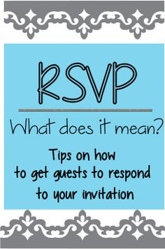 1000 images about rsvp help on pinterest invitations for Does rsvp mean you have to reply