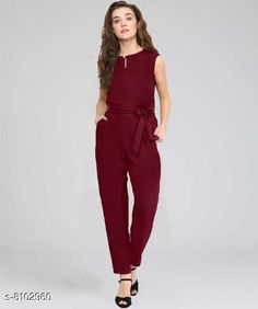 Jumpsuits Trendy Jumpsuits For Women Fabric: Rayon Sizes:  S (Bust Size: 38 in Length Size: 44 in Waist Size: 34 in)  XL (Bust Size: 44 in Length Size: 44 in Waist Size: 40 in)  L (Bust Size: 42 in Length Size: 44 in Waist Size: 38 in)  M (Bust Size: 40 in Length Size: 44 in Waist Size: 36 in)  XS (Bust Size: 36 in Length Size: 44 in Waist Size: 32 in) Country of Origin: India Sizes Available: XS, S, M, L, XL   Catalog Rating: ★3.9 (427)  Catalog Name: Classic Modern Women Jumpsuits CatalogID_1343377 C79-SC1030 Code: 163-8102960-009