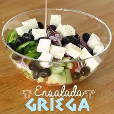 Healthy Vegetable Recipes, Easy Healthy Recipes, Healthy Snacks, Tasty Videos, Food Videos, Best Salad Recipes, Healthy Meal Prep, Mediterranean Recipes, Diy Food