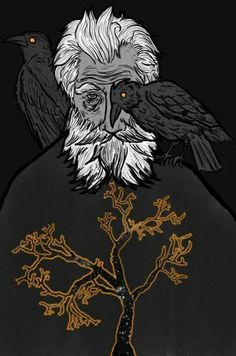 Odin - The Allfather. Artist unknown (if you know the artist, please let me know)