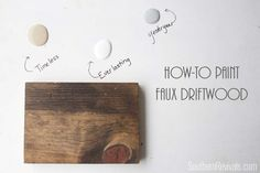 Faux Driftwood Restoration Hardware Inspired Paint Finish Tutorial