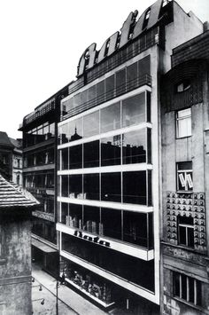 Bat'a Department Store, Ludvík Kysela, Prague, Czechoslovakia 1929-30