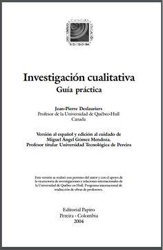 Guía Práctica de Investigación Cualitativa – RedDOLAC - Red de Docentes de América Latina y del Caribe -
