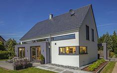 Modern mit Variationen Haus Vettel von Baumeister-Haus verwöhnt seine Bewohner mit moderner Architektur und einem intelligenten Wohnkonzept.
