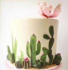 New Cupcakes Decorados Cactus Ideas Pretty Cakes, Cute Cakes, Beautiful Cakes, Amazing Cakes, Cupcakes Succulents, Succulent Cakes, Bolo Tumblr, Cactus Cake, Cactus Cactus