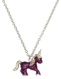 Glitter Unicorn Necklace - Justice