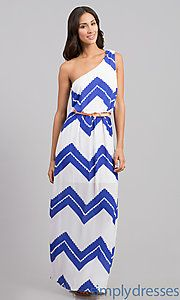 Buy One Shoulder Casual Print Dress at SimplyDresses