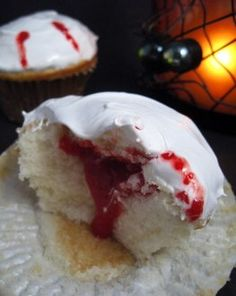 vampire cupcakes! Perfect for true blood nights!!
