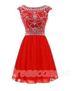 Open Back Modest Homecoming Dresses,Red Cocktail Dresses For Teens,Chiffon Cheap Graduation Dresses http://www.luulla.com/product/560683/hot-selling-red-short-homecoming-dresses-for-teens-beauty-beading-graduation-dresses-pen-back-cockta