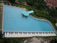 Swimming pool for music lovers..