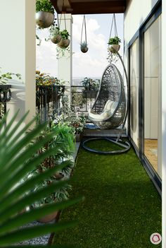 25 balcony design ideas for your home and your home - Johnathan Toms - Kleiner Balkon - Balcony Furniture Design Modern Balcony, Small Balcony Design, Small Balcony Garden, Small Balcony Decor, Balcony Plants, House Plants Decor, Terrace Design, Small House Design, Garden Modern