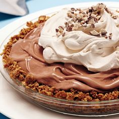 Malted Ice Cream Pie with a Waffle Cone Crust