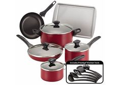 (4 Colors) Farberware 15-pc. Nonstick Aluminum Cookware Set $42.49 (kohls.com)