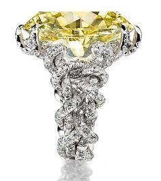 JAR yellow and white diamonds