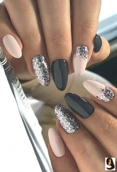 40 Fabulous Ways to Wear Glitter Nails, Looks a Cute Women Part glitter nails; glitter nails ombre Nails 40 Fabulous Ways to Wear Glitter Nails, Looks a Cute Women Part 6 Stylish Nails, Trendy Nails, Cute Nails, Sassy Nails, Nagellack Design, Nagellack Trends, Ongles Roses Clairs, Light Pink Nails, Dipped Nails