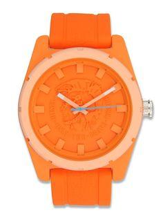 Diesel DZ1593 Unisex Logo Dial Orange Silicone Watch