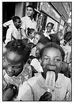 Muhammad Ali with kids