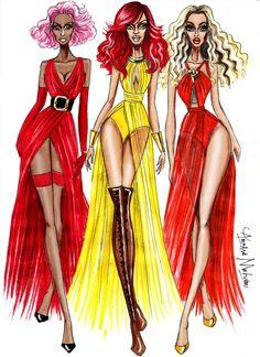 The Holy Trinity - Nicki Minaj, Rihanna, Beyonce - by Armand Mehidri