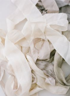 Love the color and texture of the ribbon - froufrou chic