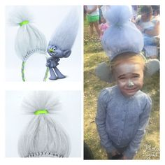 Dreamworks trolls movie halloween diy family costume giving justin love when customers send me pictures of themselves enjoying their items this little girl won best costume with her guy diamond headband solutioingenieria Image collections